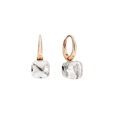 White Topaz Nudo Petit Earrings