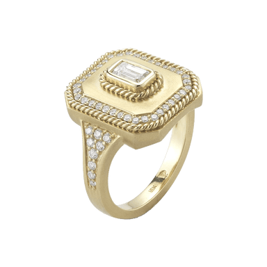 Amulet Ring with Diamonds