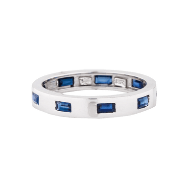 Baguette Sapphire Moderne Band