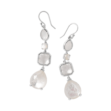 Rock Candy 4-Stone Drop Earrings