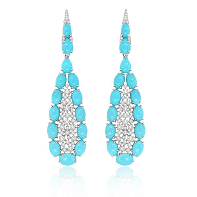 Jewels Turquoise and Diamond Scintilla Drop Earrings