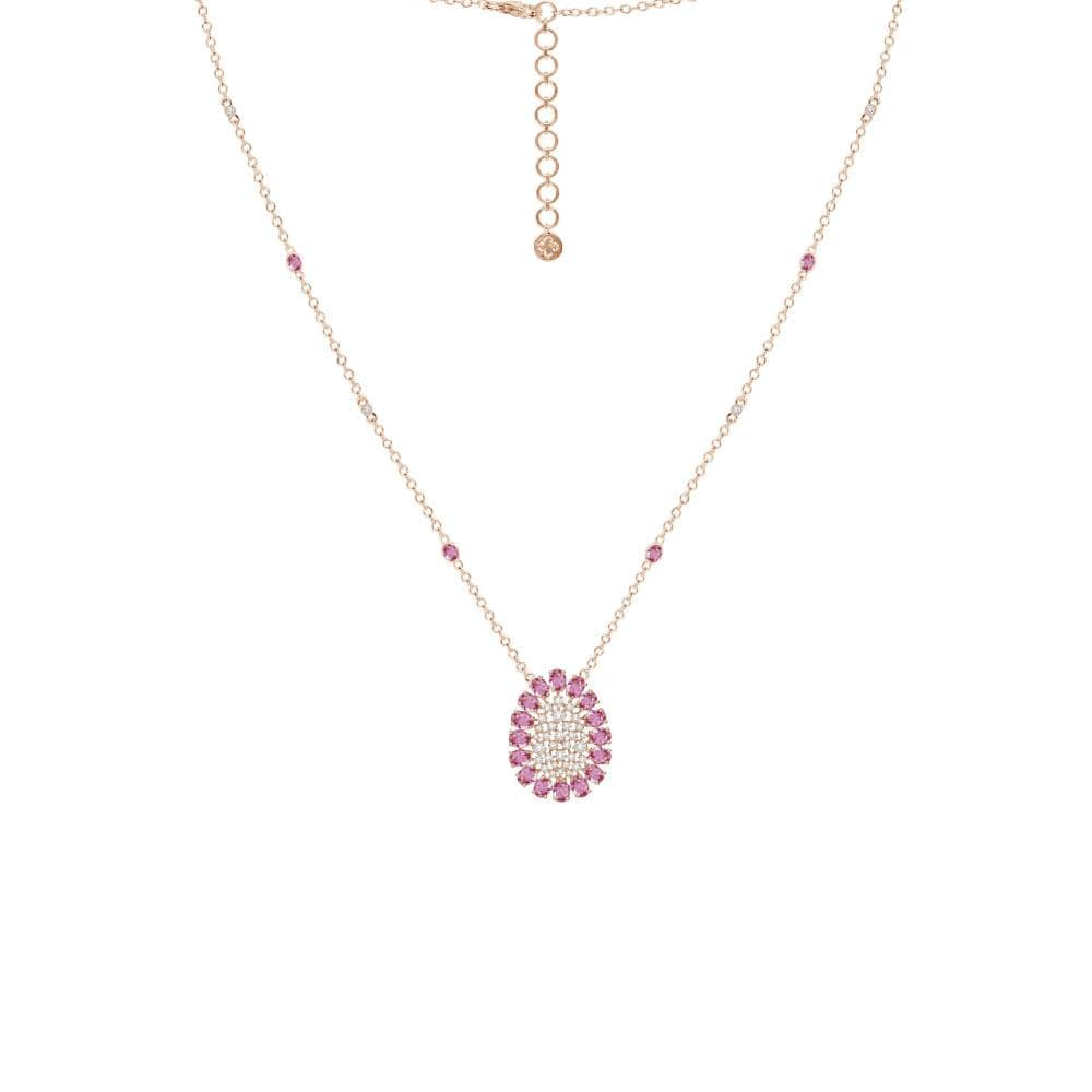 18K Rose Gold Scintillae Pink Sapphire Necklace