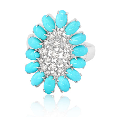 Jewels Turquoise and Diamond Ring