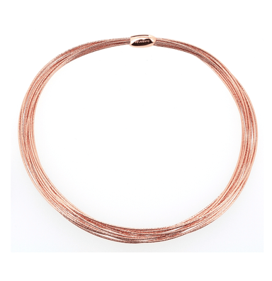 DNA SPRING THIN NECKLACE - ROSE GOLD
