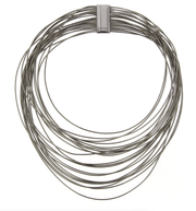 DNA SPRING WIDE NECKLACE - RUTHENIUM