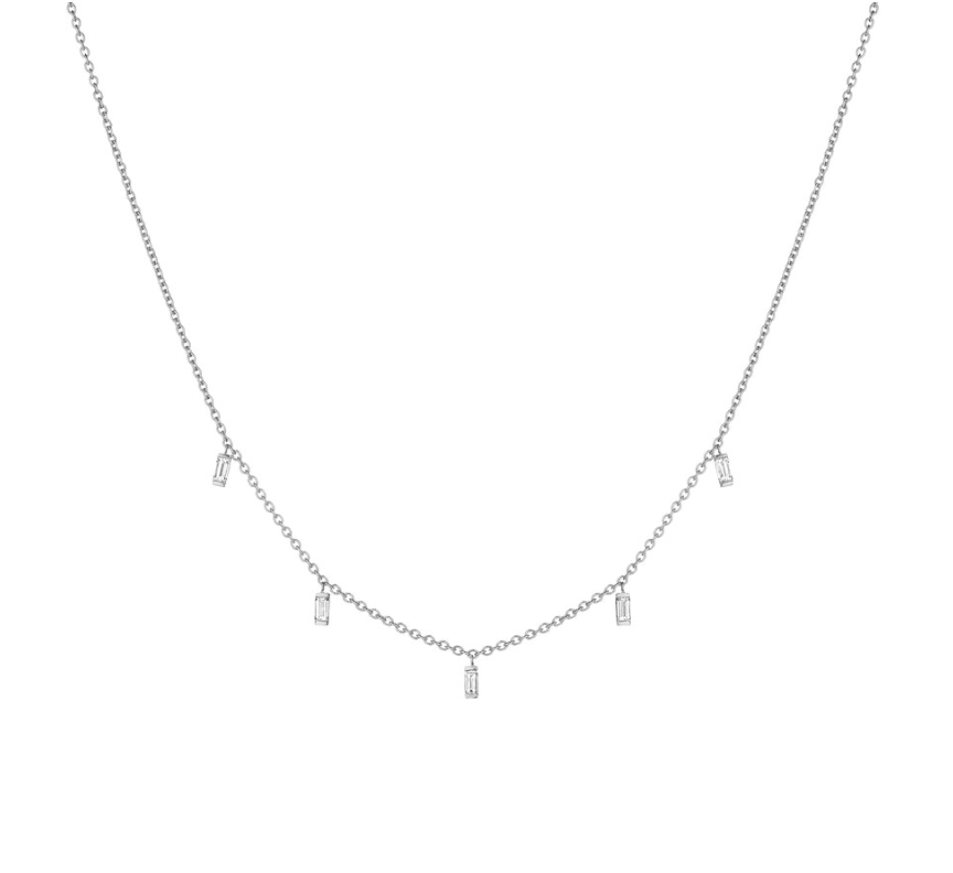 BAGUETTE MODERNE LAYERING CHAIN NECKLACE