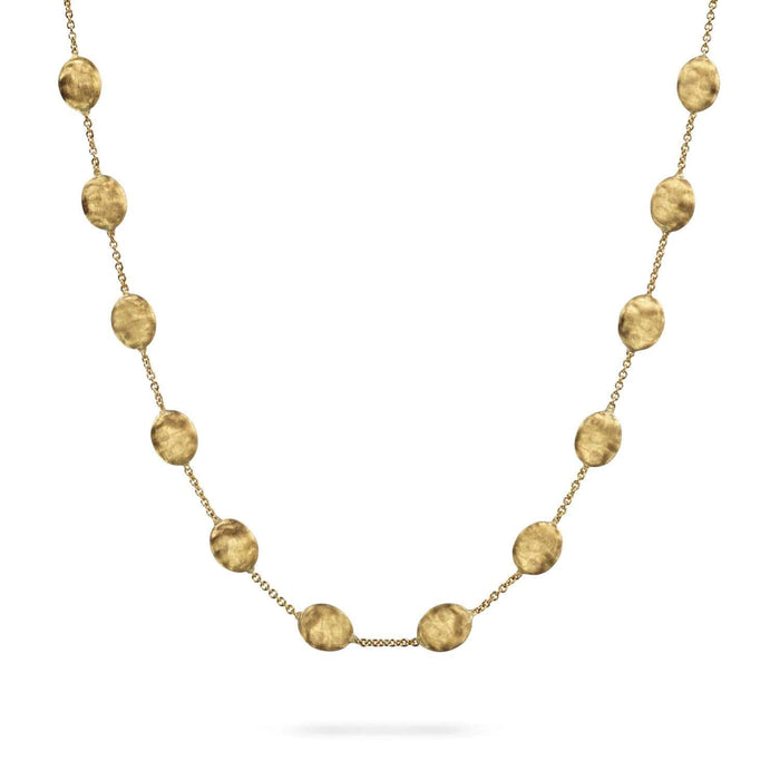 1746bcd8056c65 18K Yellow Gold Large Bead Short Necklace|Siviglia|CB538 Y 02|Marco ...
