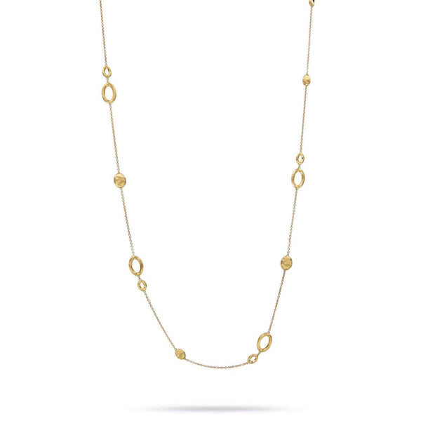 18K Gold Long Link Necklace