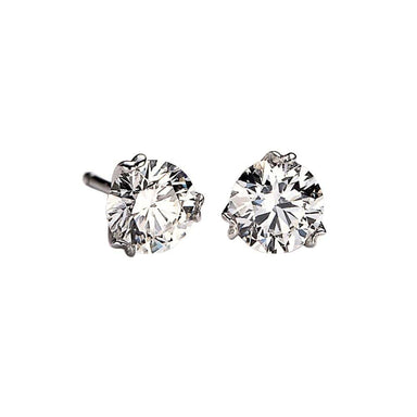 Nuvola  Diamond Solitaire Earrings