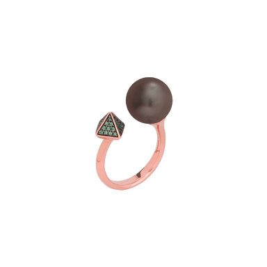 Bssp Pearl and Spike Combo Ring