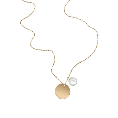 South Sea Pearl & Gold Disc Pendant