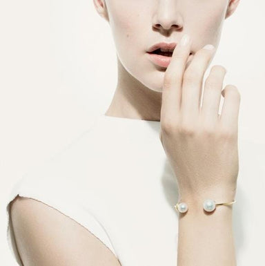 Around Midnight White South Sea Pearl Cuff