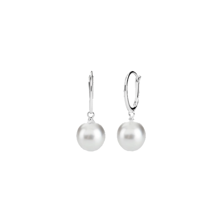 White South Sea Pearl Dormuse Earrings
