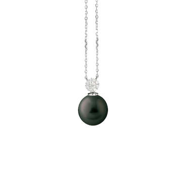 Black South Sea Pearl and Diamond Pendant