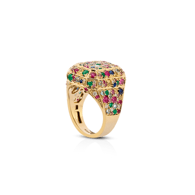 Diamond & Multi-Color Gem Stone Ring