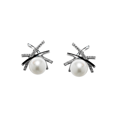 Pearl & Diamond Heights Earring