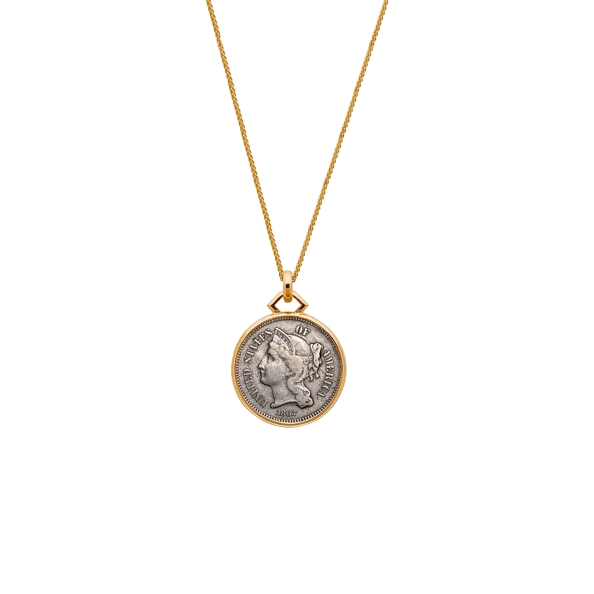 1867 3 Cent Nickel Pendant