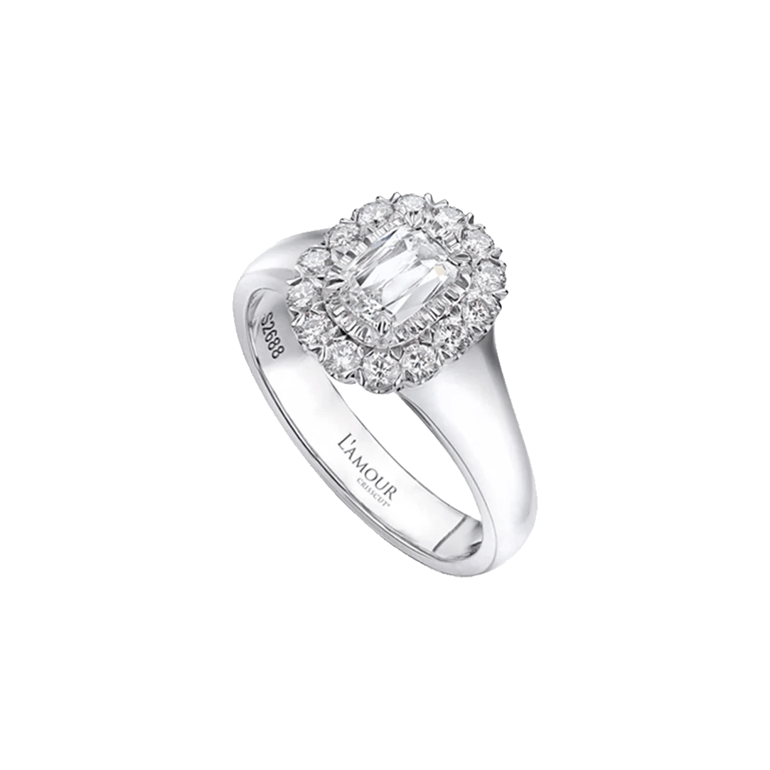 L'Amour Diamond Halo Ring
