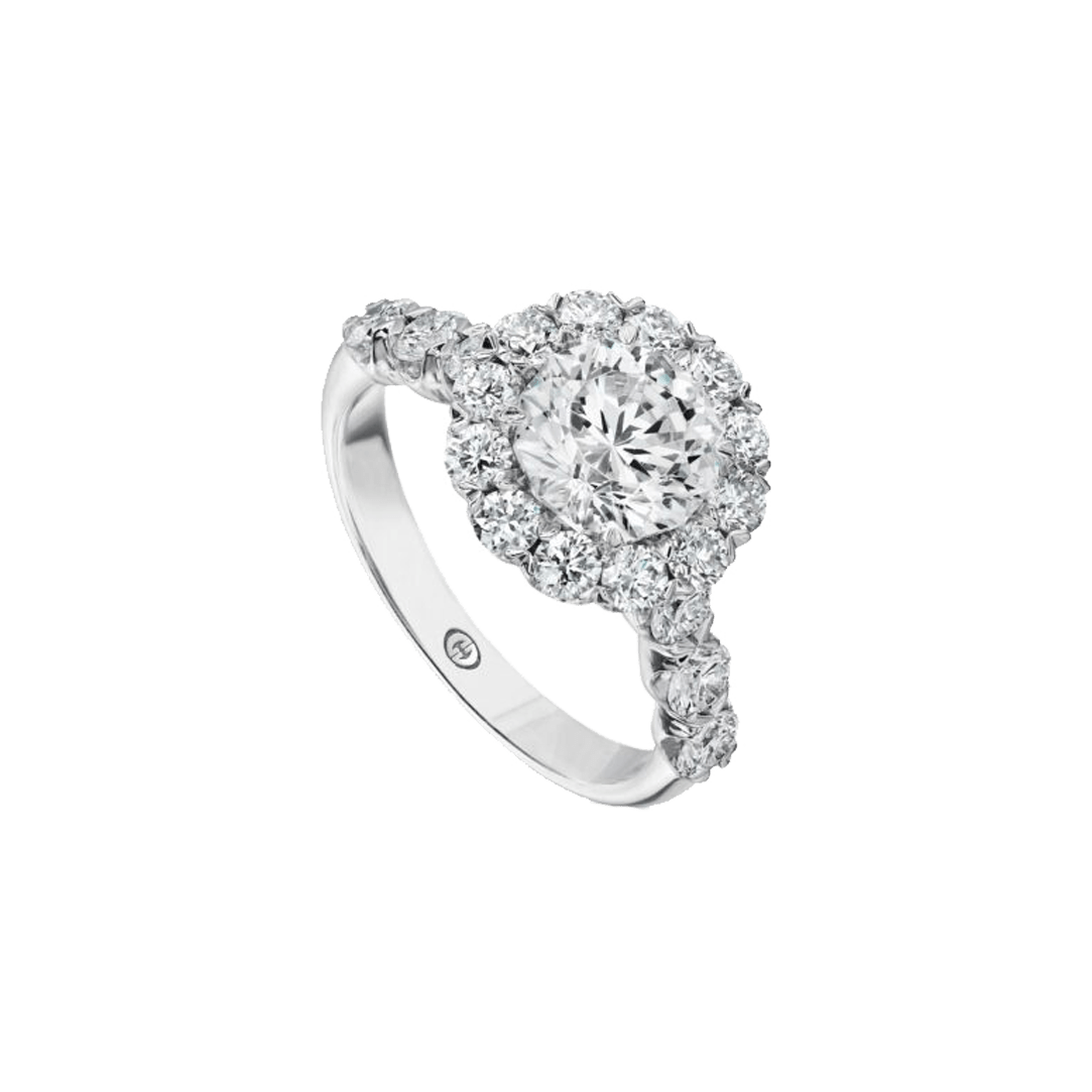 Diamond Halo Semi Mount Ring