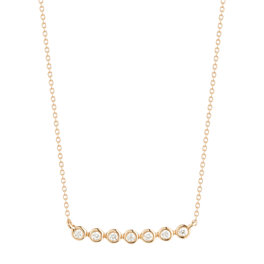 Lulu Jack Bezel Bar Necklace
