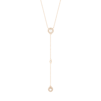 Pearl Ivy Halo Lariat
