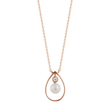 Pearl Ivy Open Tear Drop Necklace