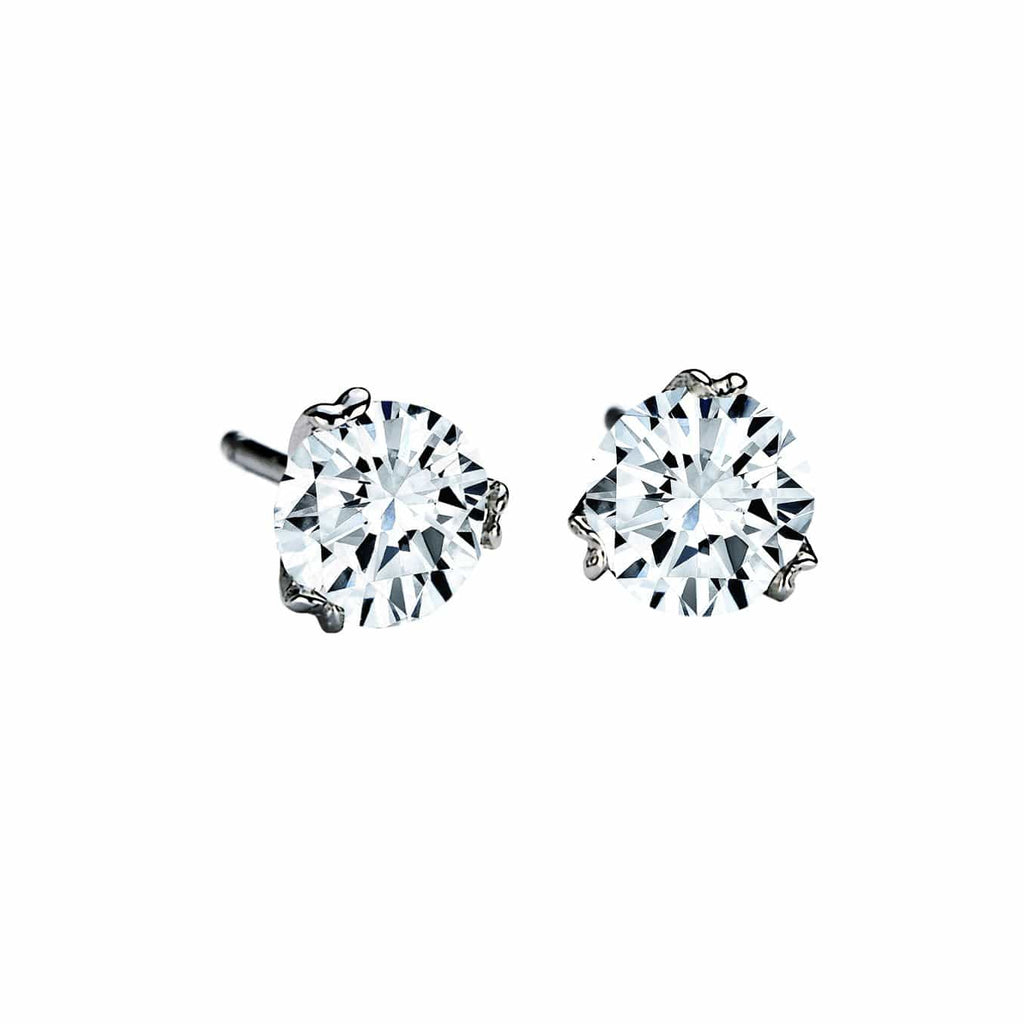 18K White Gold Diamond Nuvola Stud Earrings