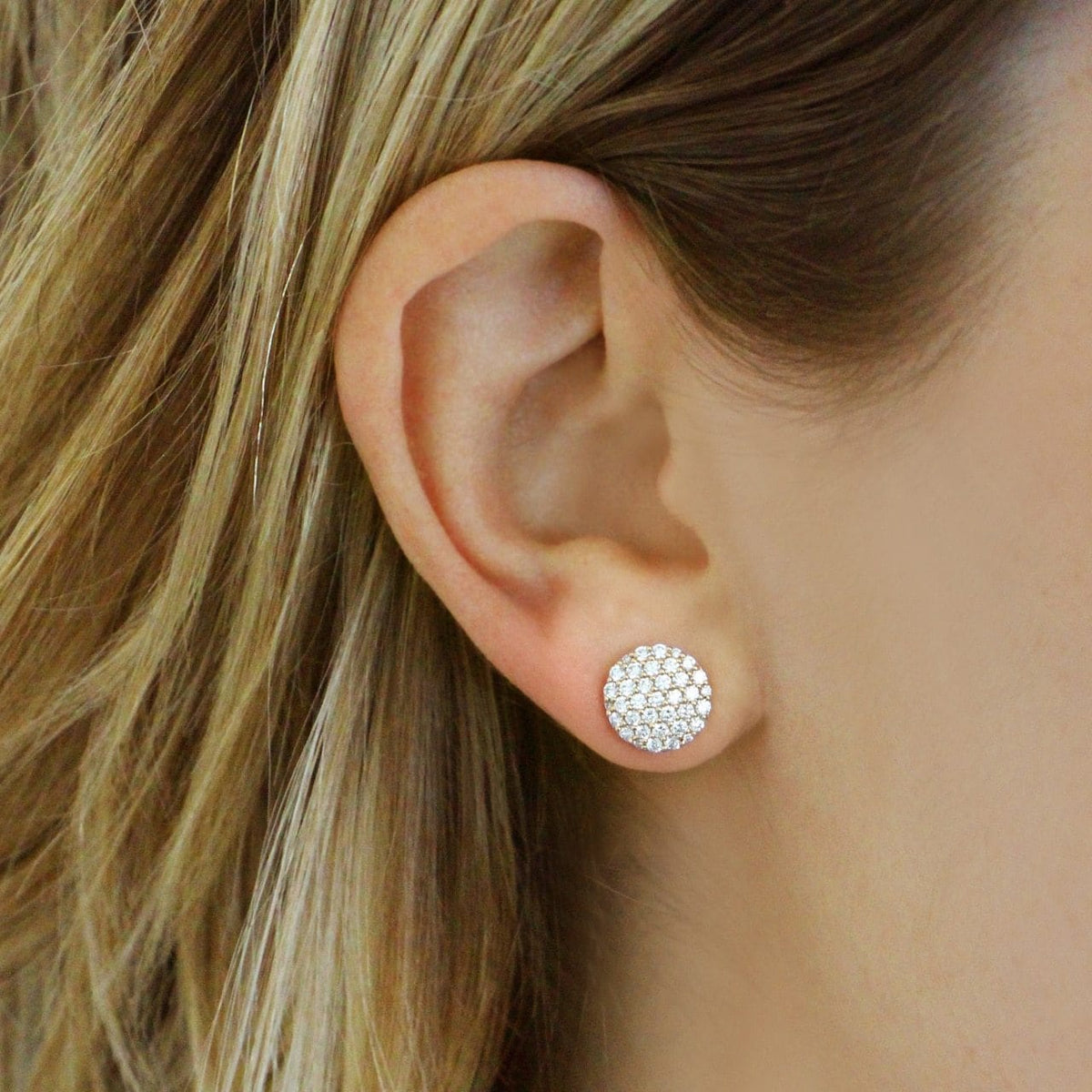 Lauren Joy Extra Large Disc Studs