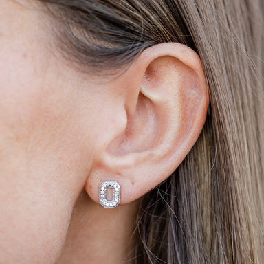 "OSU Block ""O"" Diamond Studs"