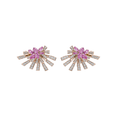 Pink Sapphire and Diamond Mirage Earrings