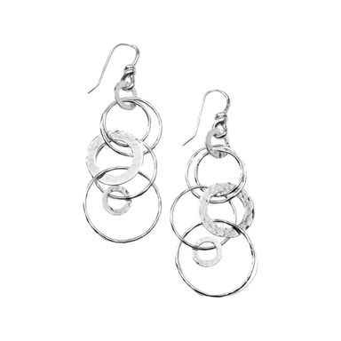 Classico Jet Set Earrings in Sterling Silver