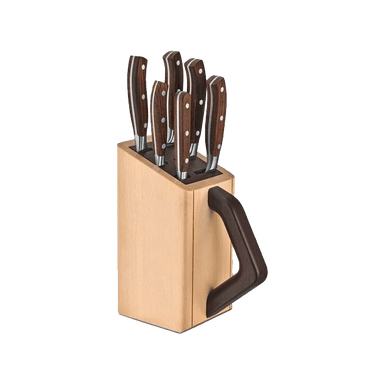 Beechwood Grand Maitre Wood 6 Piece Cutlery Block and Knife Set