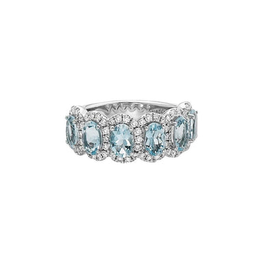 Aquamarine & Diamond Pastel Ring