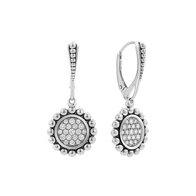 Diamond Caviar Spark Drop Earrings