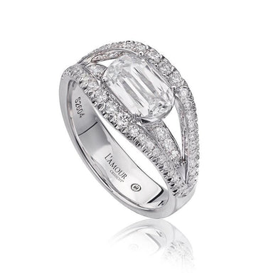 18K White Gold Bridge Ring