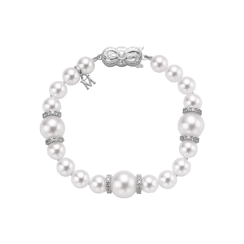 Akoya and White South Sea Pearl and Diamond Fusion Bracelet