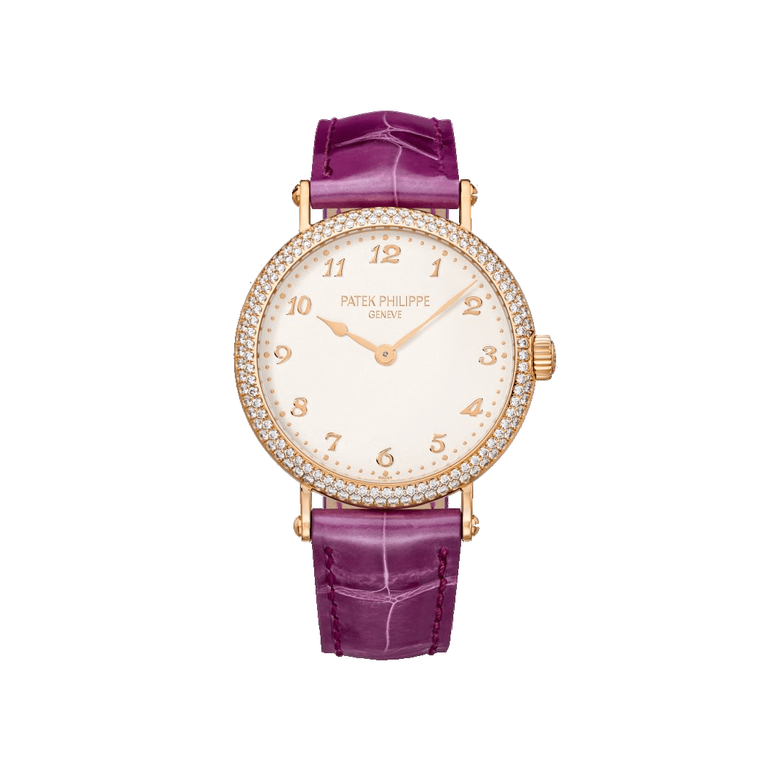 Calatrava Ultra-Thin Purple Diamond Set Watch 7200/200R
