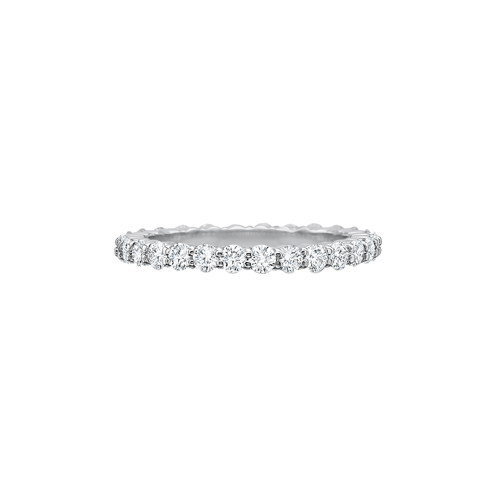 Platinum Precicion Set Diamond Eternity Band