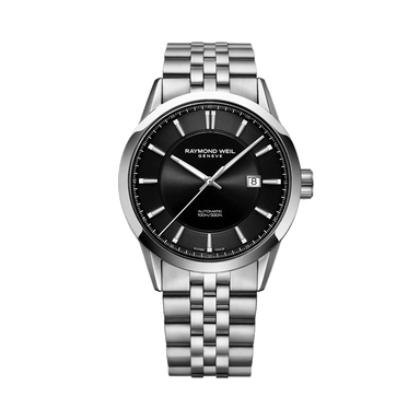 Freelancer Men's Steel Black Dial Automatic Watch