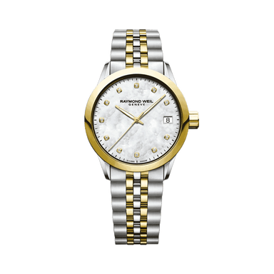 Freelancer Ladies Two-Tone Gold Diamond Quartz