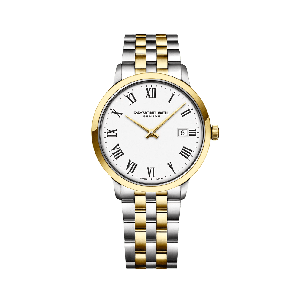 Toccata Classic Men's Two-tone White Dial Quartz Watch