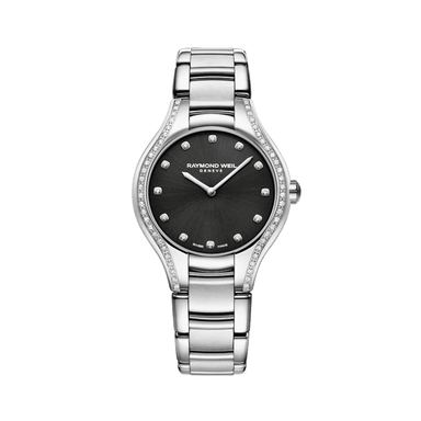 Noemia Ladies 64 Diamond Black Quartz Watch