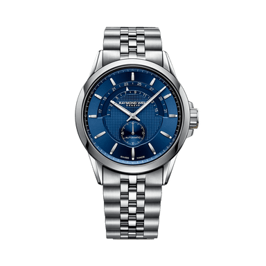 Freelancer Men's Half-Moon Blue Automatic Date Watch
