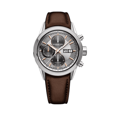 Freelancer Men's Leather Automatic Chronograph