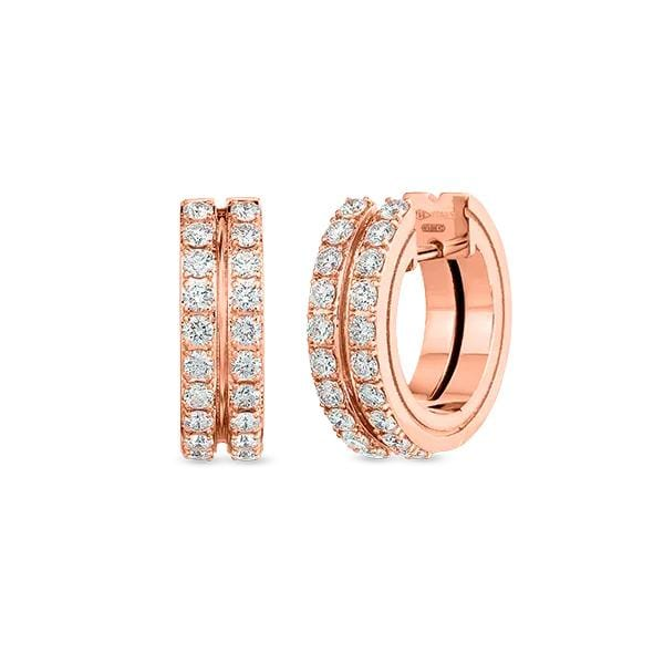 Portofino Diamond Round Hoop Earrings
