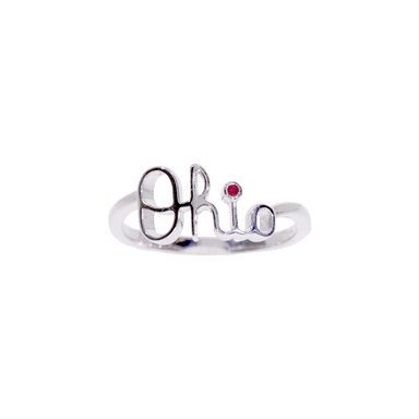 OSU Script Ohio Ring with Ruby