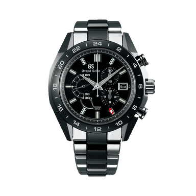 Spring Drive Black Ceramic Chronograph Watch SBGC223