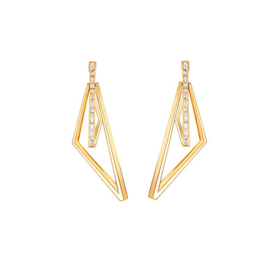 VERTIGO OBTUSE HOOPS Yellow Gold