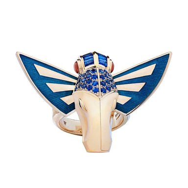 JITTERBUG HORSE FLY RING Yellow Gold