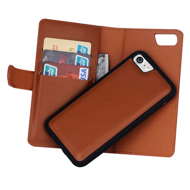 Leather Wallet Case for Apple iPhone 7 and 7 Plus
